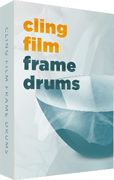 Cling Film Frame Drums