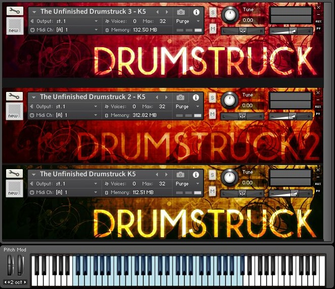 "50% off the ""Drumstruck Bundle"" by The Unfinished"
