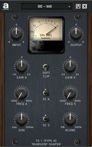 "80% off ""TS-1 Transient Shaper"" Plugin by Audiority"