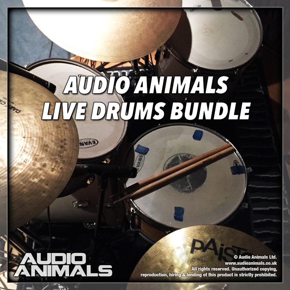 "80% off ""Live Drums Bundle"" by Audio Animals"