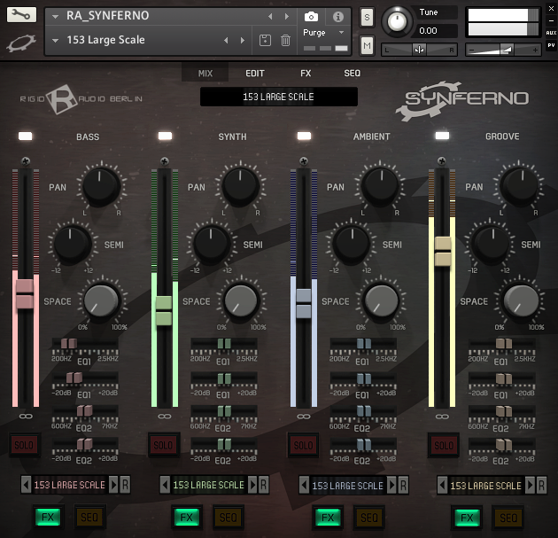 "75% off ""Synferno"" by Rigid Audio (Kontakt & WAV)"