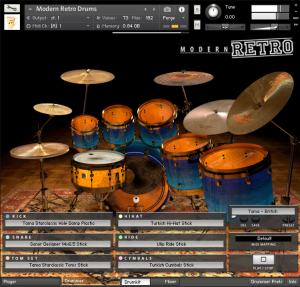 drums kontakt interface