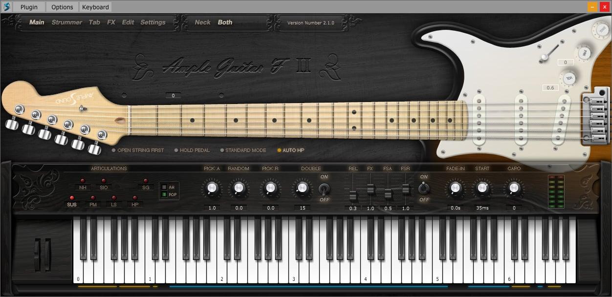 "55% off ""F II Guitar"" by Ample Sound (VST/AU/AAX/RTAS)"