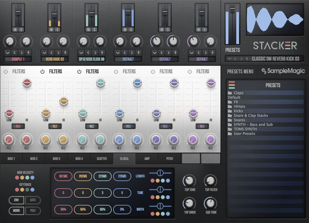 "70% off ""Stacker"" Plugin by Sample Magic (VST/AU/AAX)"
