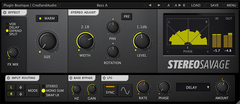 "50% off ""StereoSavage"" by Plugin Boutique (AU/VST/AAX)"