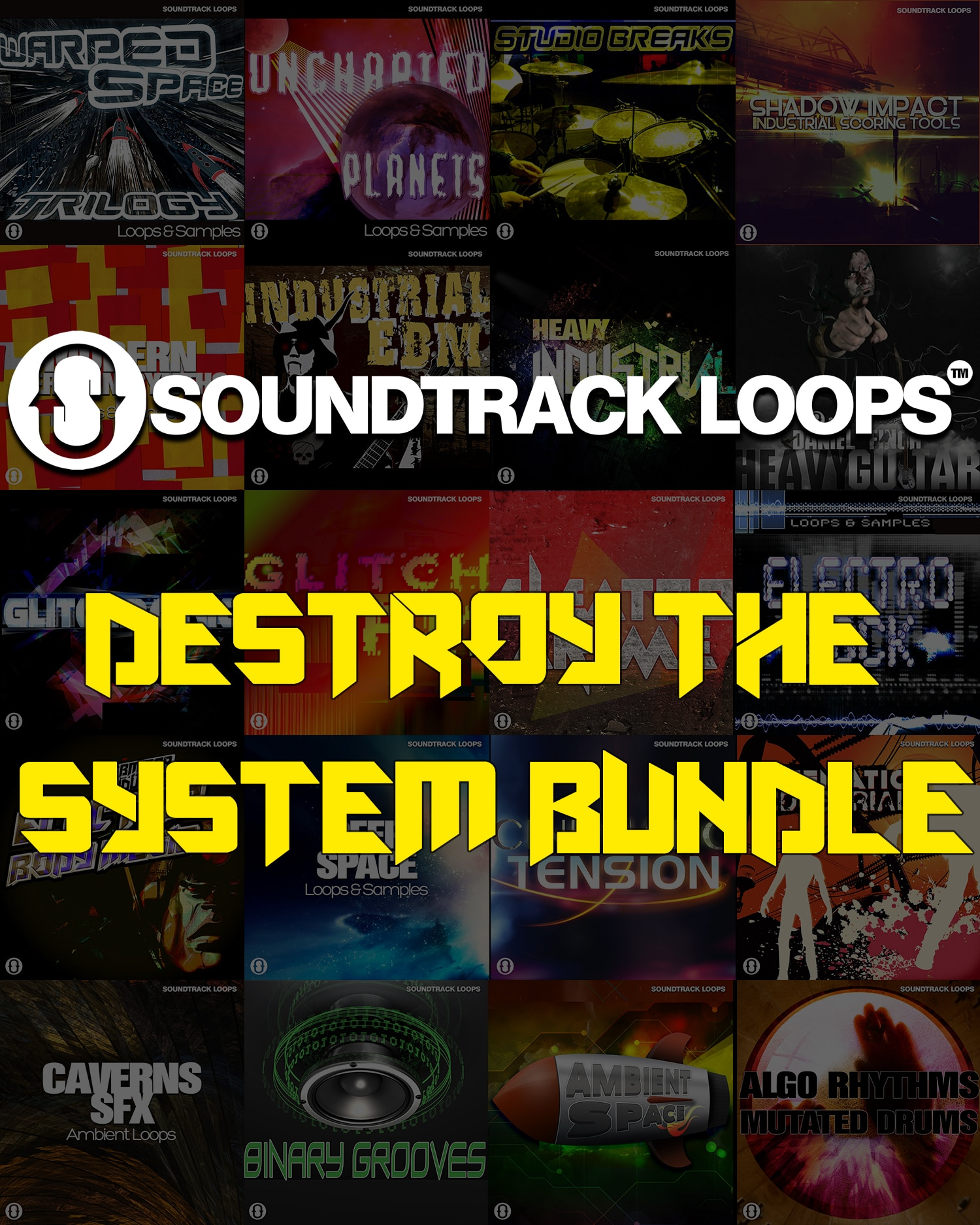 "92% off ""Destroy The System Bundle"" by Soundtrack Loops"