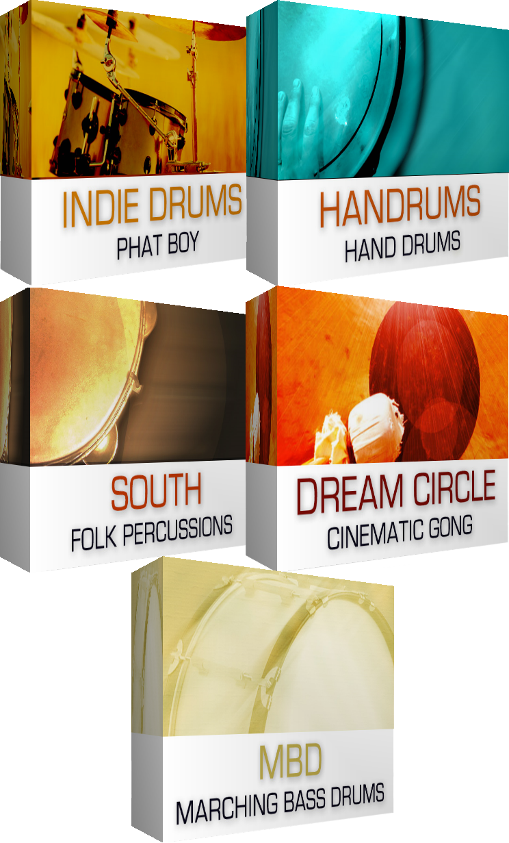 "79% off ""Drums & Percussions Bundle"" by Dream Audio Tools"