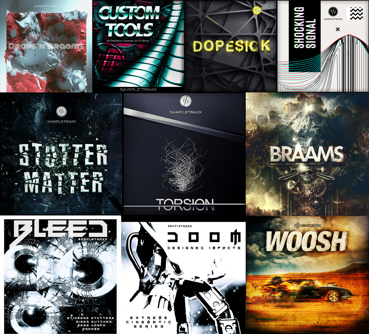 "80% off ""Cinematic Bundle"" by Sampletraxx (Kontakt/WAV)"