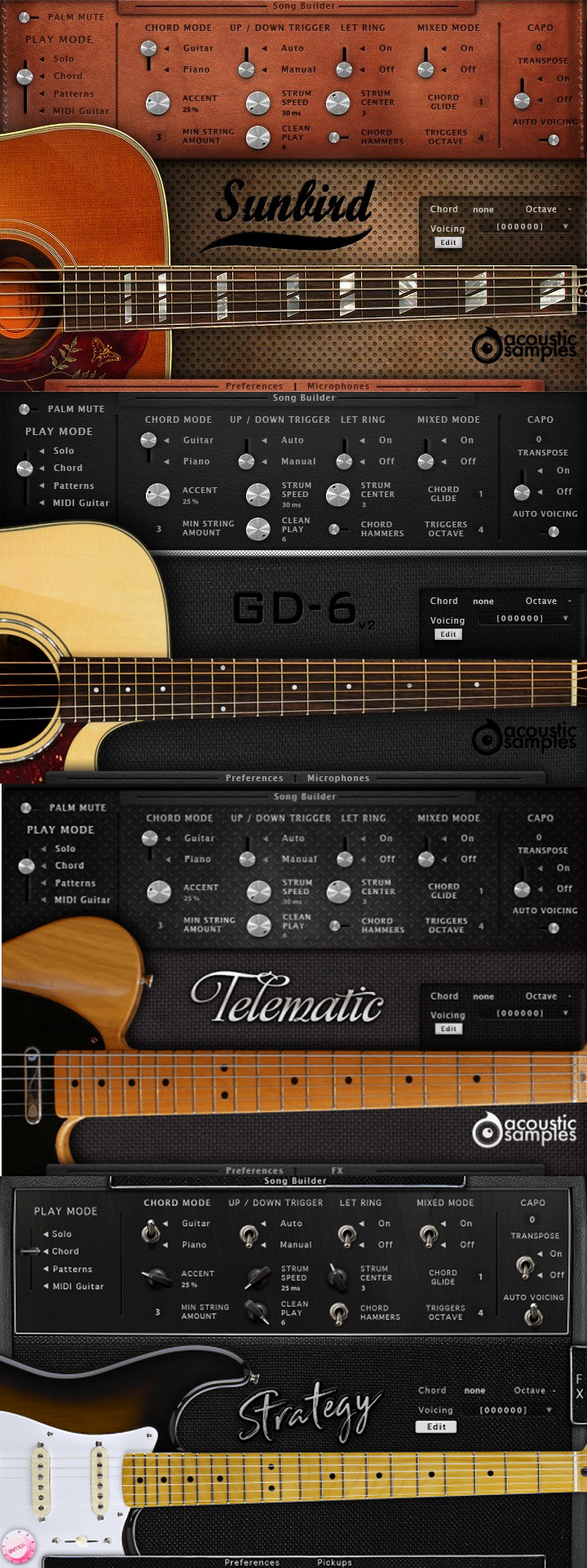 "82% off ""The Acoustic Samples Guitar Bundle"" (VST/AU/AAX)"