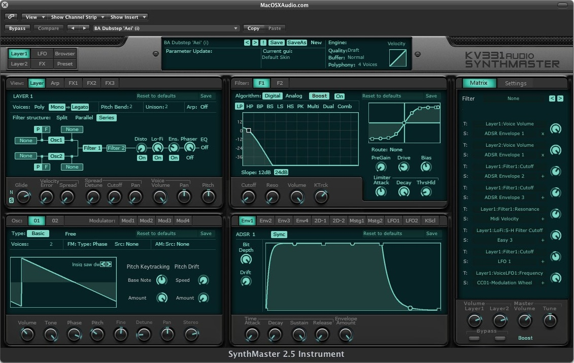 "40% off ""SynthMaster"" by KV331 Audio"