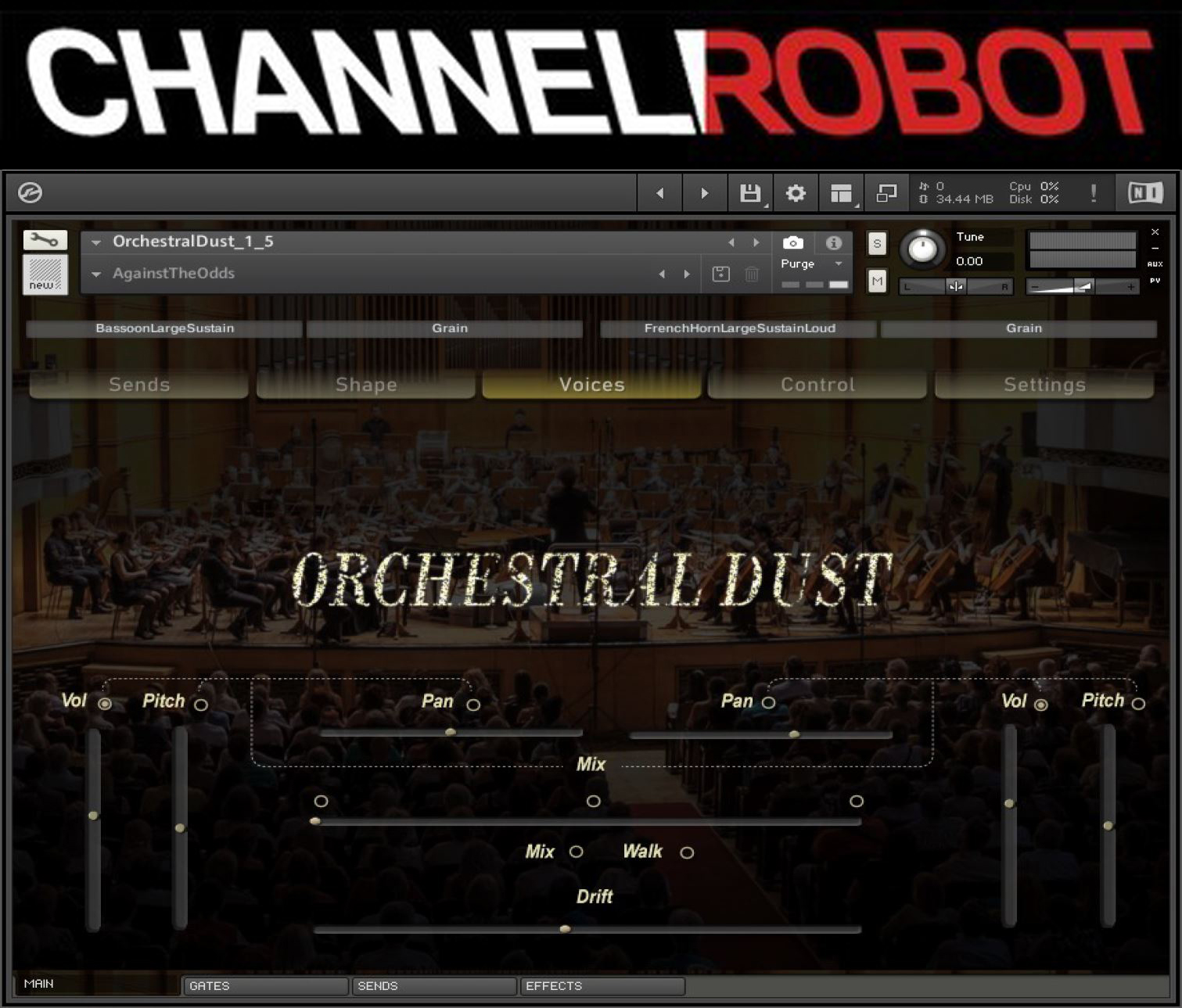 "87% off ""Orchestral Dust"" by Channel Robot"