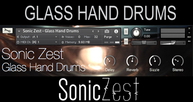 "60% off ""Glass Hand Drums"" by Sonic Zest"