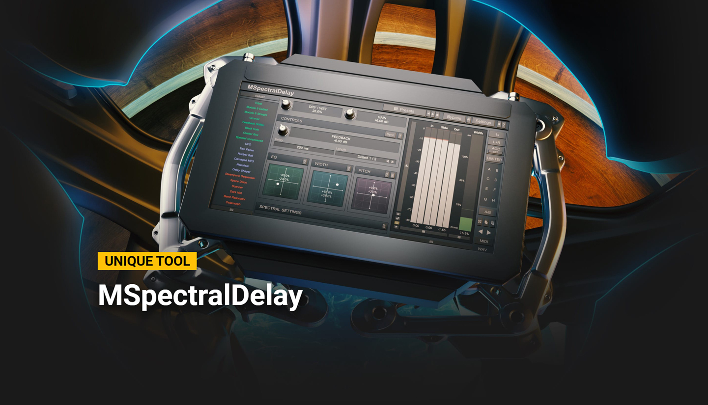 "75% off ""MSpectralDelay"" by MeldaProduction"
