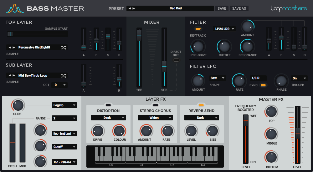 """61% off """"Bass Master + Free Expansion"""" by Loopmasters Plugins"""
