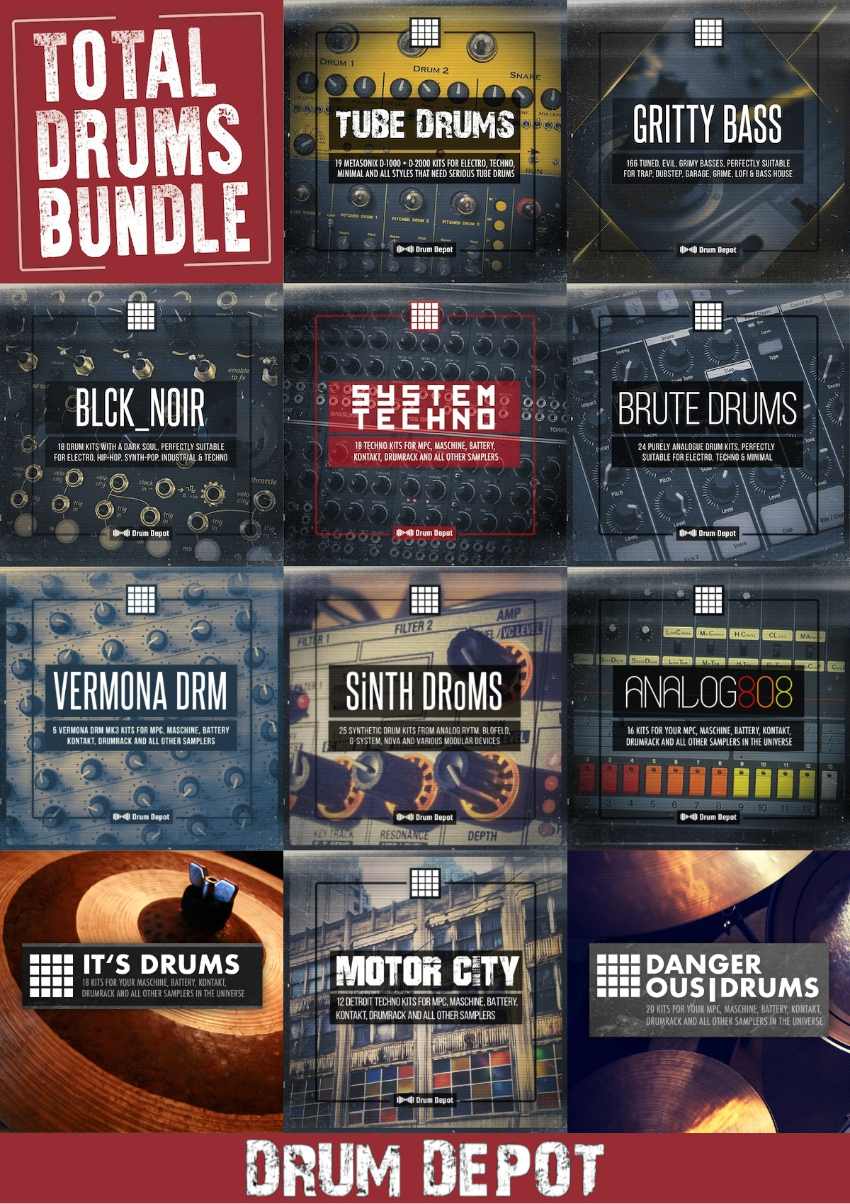 "78% off ""Total Drums Bundle"" by Drum Depot"